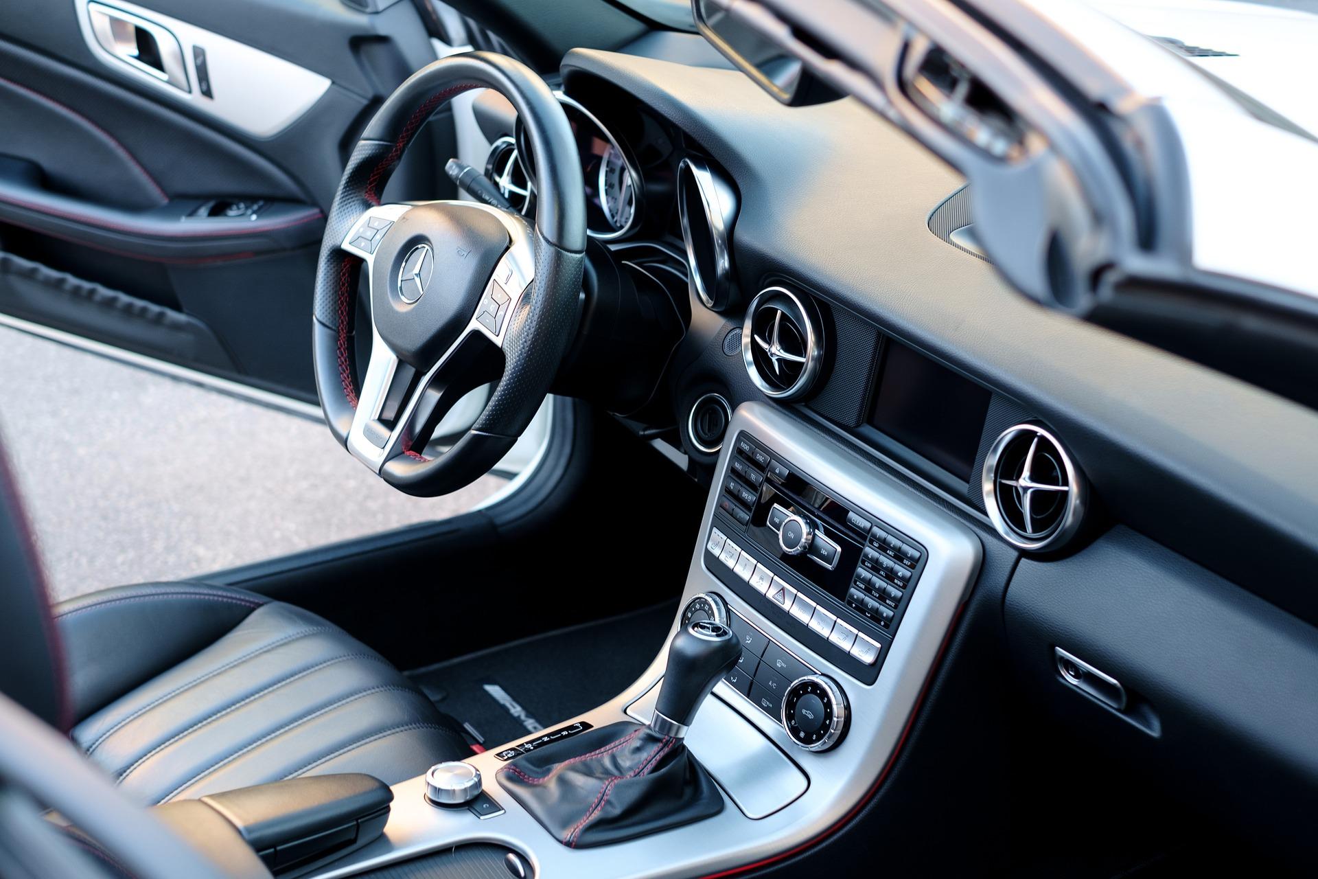 Sparkling clean car interior